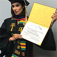 Diane Guerrero receiving honorary doctorate degree in 2018